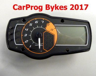 S7.56  Bykes 2017 update ford CarProg - motocycles instrument clusters odometer repair.