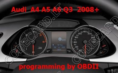 S7.24 - Dashboard repair by OBDII for Audi A4, A5, A6, Q5, Q7 2008+