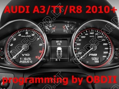 S7.20 - Dashboard repair by OBDII for Audi A3, TT, R8 new 2010+