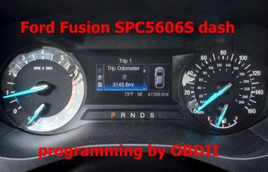S7.52 - Programming by OBDII for Ford Explorer, Fusion 2013+ instrument cluster