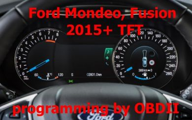 S7.51 - Programming by OBDII for Ford Mondeo, Fusion 2015+ with big TFT display