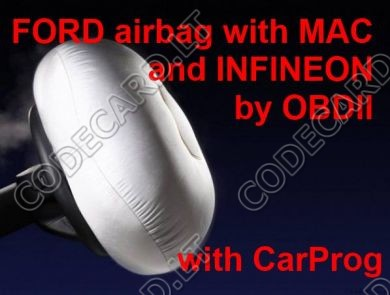 S5.38 - Programming by OBDII for Ford 2009-2012 airbag sensors with MAC and Infineon processors