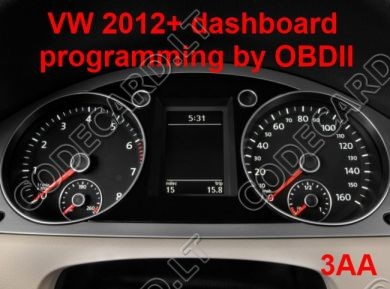S7.25 - Dashboard repair by OBDII for VW, VDO 2012+ (NEC +24C64)