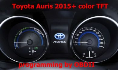S7.53 - Programming by OBDII for Toyota Auris, Avensis 2015+ VDO instrument cluster