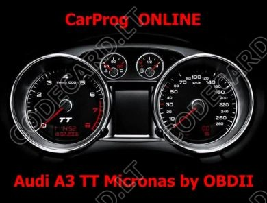 S7.12 - Odometer with Micronas repair by OBDII for Audi A3, TT 2005-2009