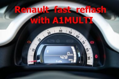 S7.54 - Instrument cluster fast flashing with A1MULTI adapter for Renault