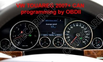S7.28 - Dashboard repair by OBDII, CAN for Toureg, Phaeton 2007+