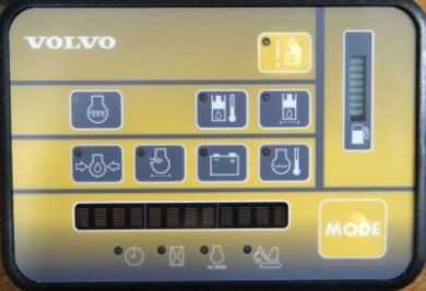 Volvo Excavator EC35 EC45 instrument cluster with Puma 2 controller (year 1999-2008) programming software