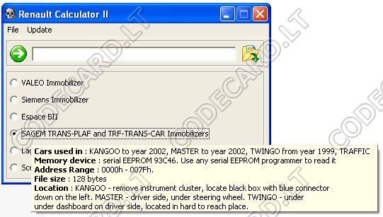 Trantir калькулятор кода renault скачать бесплатно file